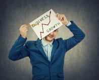 Grafico di crescita di affari Immagini Stock