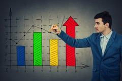 Grafico di crescita di affari Fotografia Stock