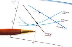Grafico di economia Fotografie Stock Libere da Diritti