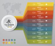 grafico di elemento di Infographics di 10 punti per la presentazione ENV 10 Fotografia Stock