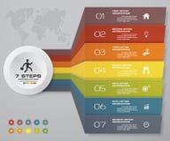 grafico di elemento di Infographics di 7 punti per la presentazione ENV 10 Immagini Stock Libere da Diritti