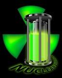 Grafico di energia nucleare Fotografie Stock