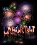 Grafico di Festa del Lavoro 3D Fotografie Stock