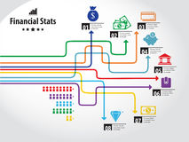 Grafico di finanza Fotografia Stock Libera da Diritti