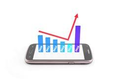Grafico di finanza Immagini Stock