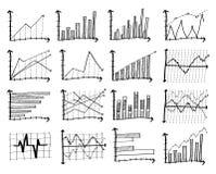 Grafico di finanza di scarabocchio Immagini Stock