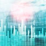 Grafico di finanza e di affari su fondo vago Concetto di commercio, di investimento e di economia fotografia stock libera da diritti