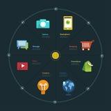 Grafico di Infographic Fotografia Stock