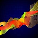 Grafico di Infographic con i grafici mescolati Immagini Stock