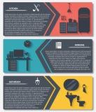 Grafico di informazioni delle insegne interne di vettore della casa Fotografie Stock Libere da Diritti