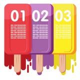 Grafico di informazioni di colore del gelato Fotografia Stock