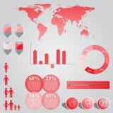 Grafico di informazioni di vettore Fotografia Stock