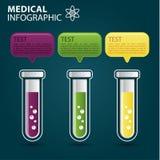 Grafico di informazioni mediche Fotografia Stock