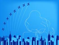 Grafico di linea aerea Fotografie Stock
