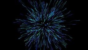 Grafico di moto del fuoco d'artificio d'esplosione video d archivio