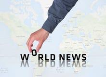Grafico di notizie di mondo Fotografia Stock