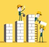 Grafico di più alta crescita di team-building di affari concetto di affari di crescita e di lavoro di squadra Fotografia Stock Libera da Diritti