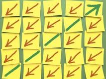 Grafico di Post-it Immagine Stock Libera da Diritti