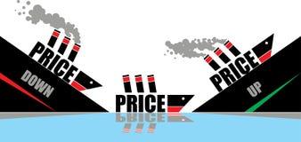 Grafico di prezzi illustrazione di stock
