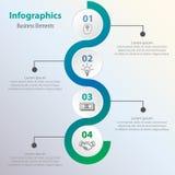 Grafico di processo aziendale Dati di gestione Fotografia Stock