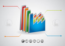 Grafico di produzione industriale Fotografia Stock Libera da Diritti