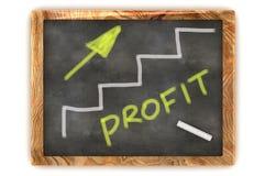 Grafico di profitto della lavagna Fotografia Stock