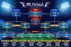 Grafico di programma della coppa del Mondo della Russia Immagini Stock Libere da Diritti