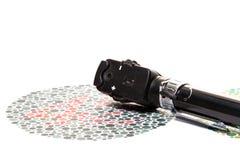 Grafico di prova di percezione del colore ed oftalmoscopio Immagini Stock