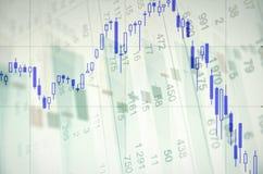 Grafico di riserva di tendenza al ribasso Immagini Stock Libere da Diritti