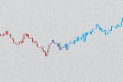 Grafico di riserva sul fondo di griglia di gradazione di grigio illustrazione 3D Immagini Stock