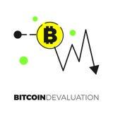 Grafico di scambio di Bitcoin Fotografia Stock Libera da Diritti