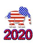 Grafico 2020 di simbolo del partito del GOP di elezione Fotografia Stock