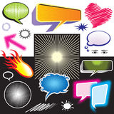 Grafico di simbolo di dialogo Immagine Stock