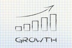 Grafico di Stats che mostra crescita ed i risultati positivi Fotografia Stock Libera da Diritti