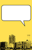 Grafico di stile del grunge di Miami Florida nel colore giallo Fotografia Stock Libera da Diritti