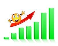 Grafico di successo Immagini Stock