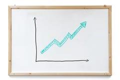 Grafico di successo Fotografie Stock Libere da Diritti