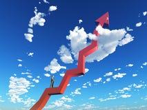 Grafico di successo Fotografie Stock