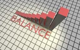 Grafico di successo dell'equilibrio Immagini Stock