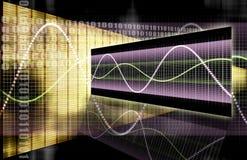 Grafico di tecnologia del foglio elettronico di finanze illustrazione vettoriale