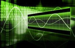 Grafico di tecnologia del foglio elettronico di finanze Fotografia Stock Libera da Diritti