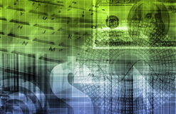 Grafico di tecnologia del foglio elettronico di finanze Fotografie Stock Libere da Diritti