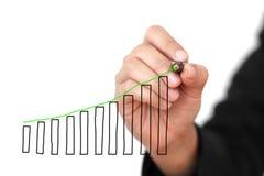 Grafico di Uptrend Immagine Stock