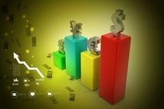 Grafico di valuta Immagini Stock Libere da Diritti