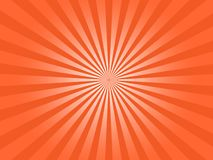Grafico di vettore astratto di Sun di scoppio arancio dei raggi fotografia stock