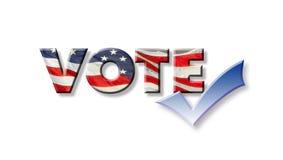 Grafico di voto con il segno di spunta Fotografie Stock
