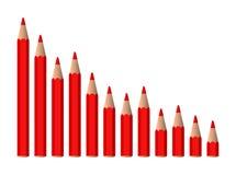 Grafico diminuente di vettore Immagini Stock Libere da Diritti