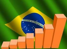 Grafico e bandierina brasiliana Fotografie Stock Libere da Diritti