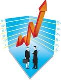 Grafico e gente di affari Immagini Stock Libere da Diritti