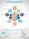 Grafico e grafico di elementi demografici di Infographic Fotografia Stock Libera da Diritti